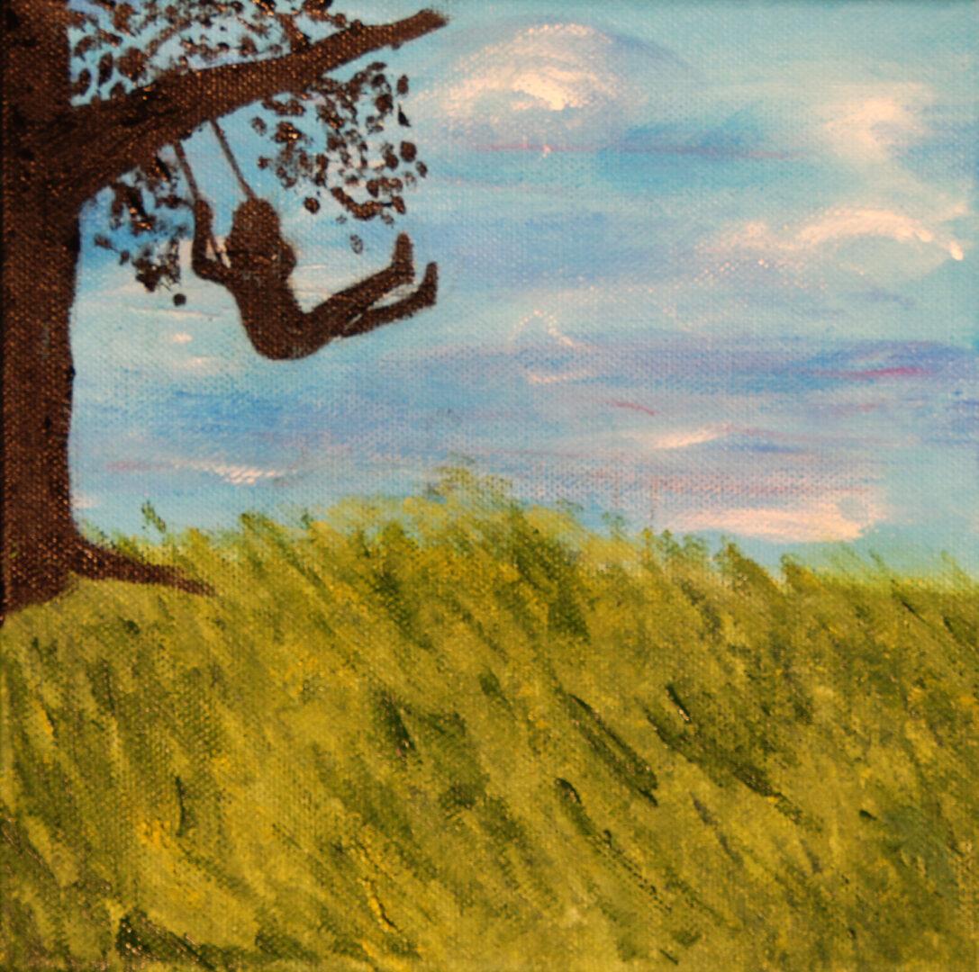 "A Perfect Wish</br>acrylic on canvas</br>8""w x 8""h"