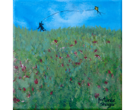 """Fly With Me</br>acrylic on canvas</br>8""""w x 8""""h"""