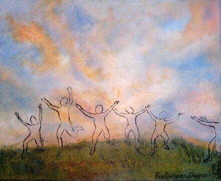 """I Wish</br>acrylic on canvas</br>16""""w x 12""""h"""