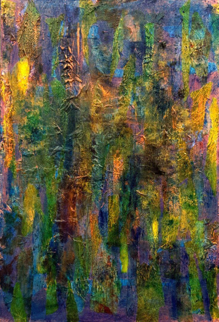 "Follow Me<br> acrylic on canvas<br>17""w x 25""h"